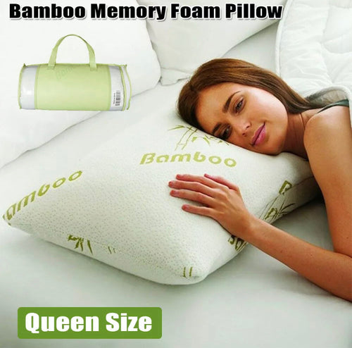 Queen/King Memory Foam Pillows with Bamboo Covers
