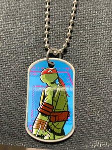 Ninja Turtle Tag Necklace