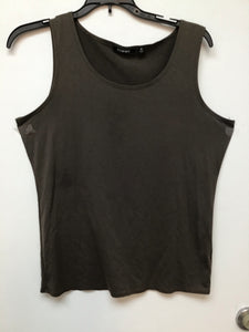 Elementz Women's Sleeveless Top - Brown Medium