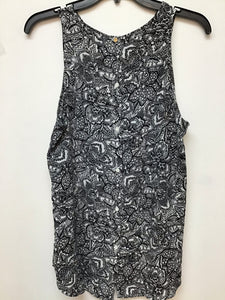 WhoWhat Wear Sleeveless Top - Black White Medium