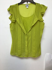 Worthington lime green blouse size medium
