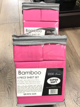 Bamboo Queen Sheet Set 2000 Series - Solid Berry