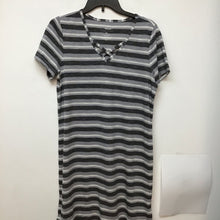 Sonoma grey charcoal and white striped dress size medium