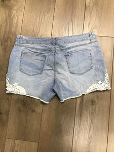 Faded Glory light colored jean shorts size 18