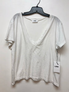 LNA Sparks Neck Shirt - White