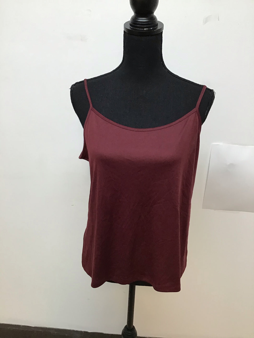 NY collection spaghetti strap burgundy top size large