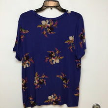 a.n.d blue top with floral print size XXL