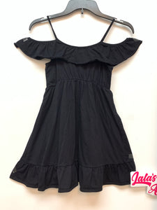 Children's Place off Shoulder Dress - Black