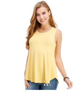 Casual Sleeveless Top- Banana