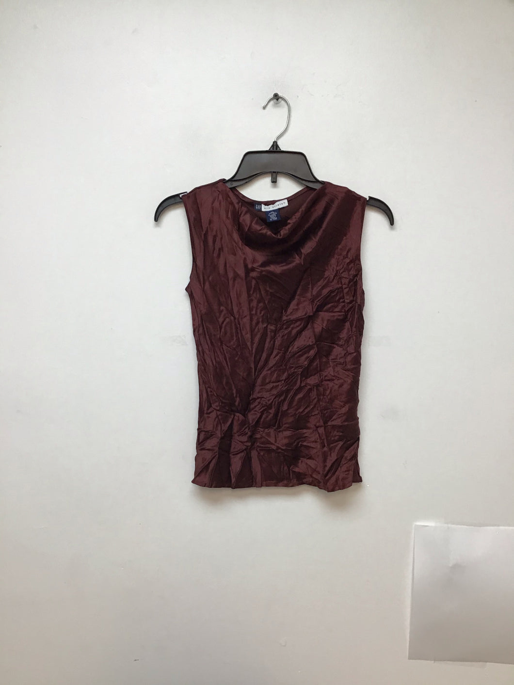 Gap silk stretch brown sleeveless blouse size Xsmall