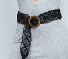 Woven Beach Belt Color Black