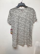 Vince Camuto white top with gray floral print size L