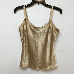 Unbranded gold silk spaghetti strap blouse size small