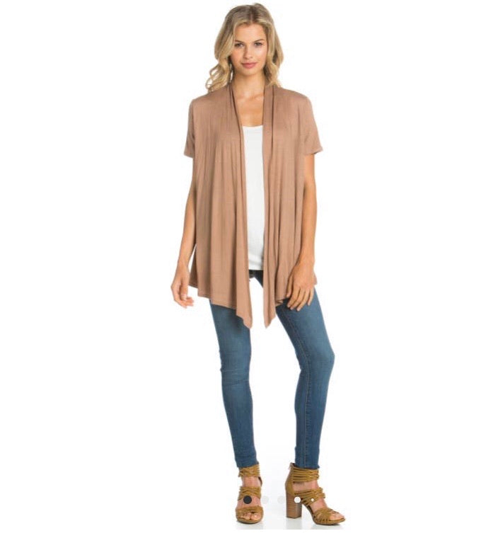 Short Sleeve open front cardigan- Coco