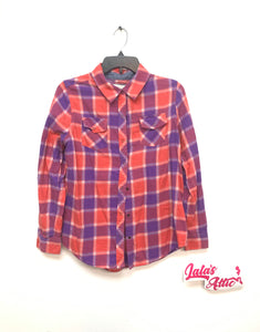 Arizona Jeans Push Button Plaid Shirt