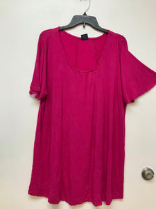 Faded Glory Women's Top Flare Sleeve - Hot pink 1X