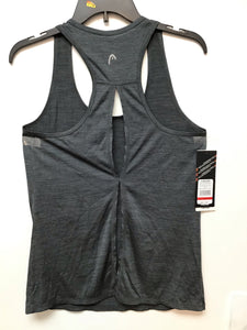 Head Cassandra keyhole tank black heather size small