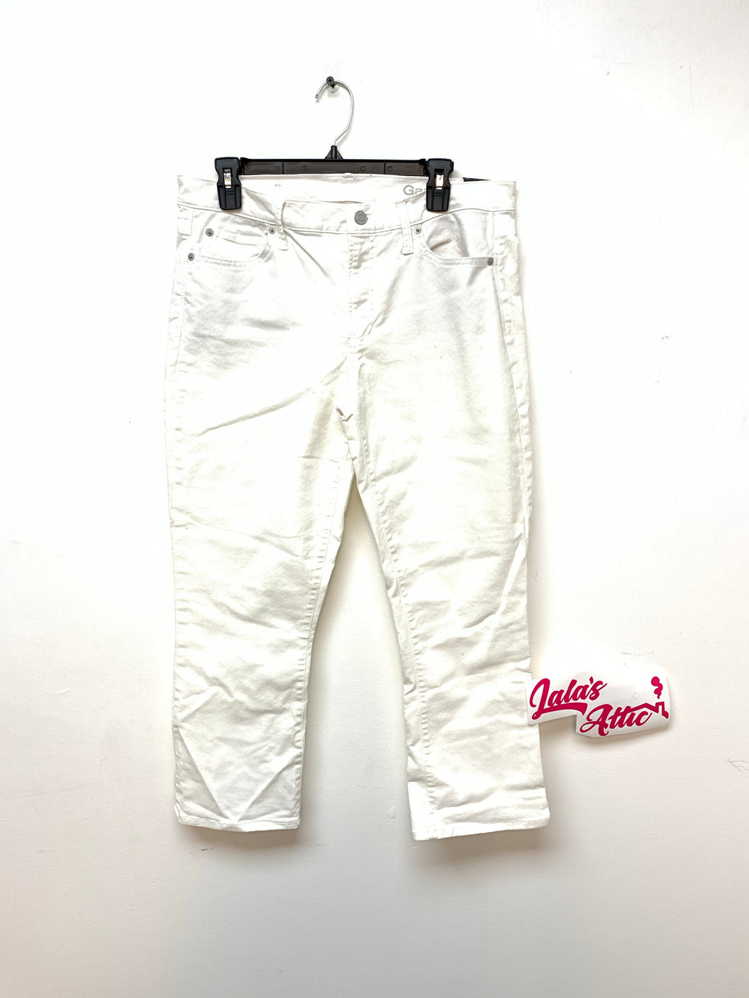 GAP AUTHENTIC CROP KICK WHITE DENIM JEANS