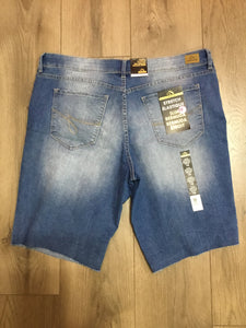 Jordache jean shorts ripped design in front size 16