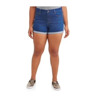 Butt I Love You Women's Shorts - Denim 2XL