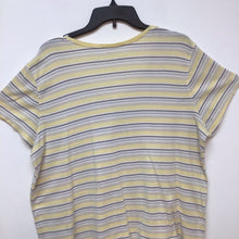 Sonoma yellow gray and white striped top size 1X