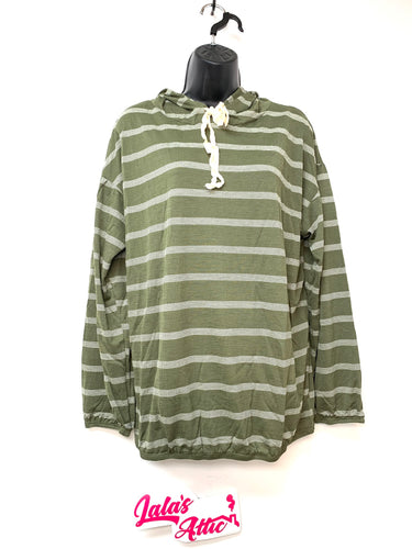 MTS STRIPED OLIVE HOODIE *NEW