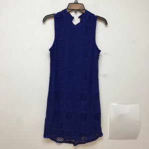 IN royal blue crochet style sleeveless dress size large