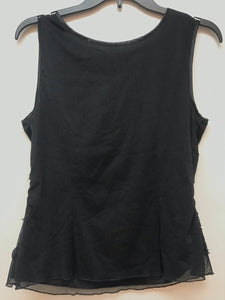 Frank Lyman Sleeveless Top Embroidered - Black 10