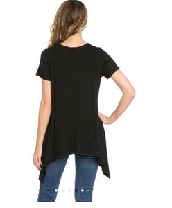 Piko Short Sleeve Tunic - Black