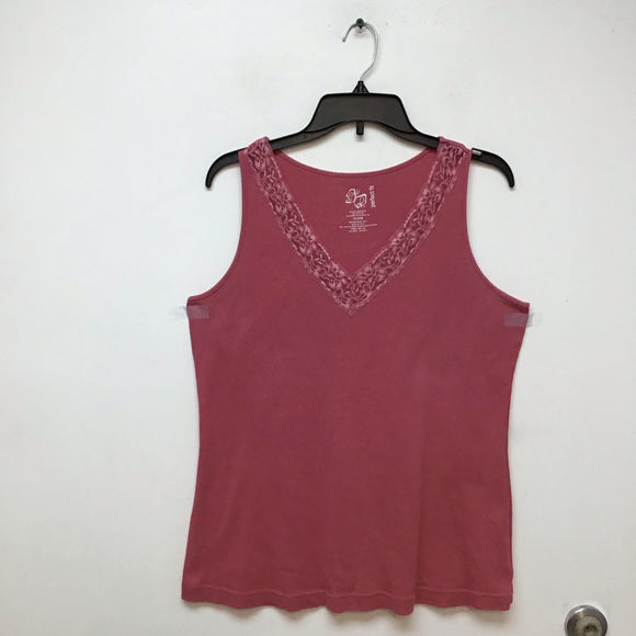 Perfect fit plush pink tank top size 18/20