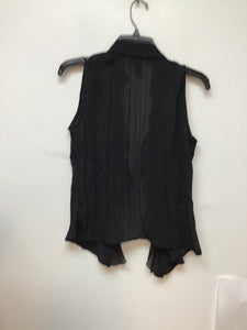 Style and Co black ruffle in the front blouse size medium