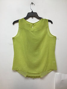Loft yellow sleeveless top with black dots size Large