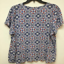 Croft & Barrow red white and blue print top size 1X