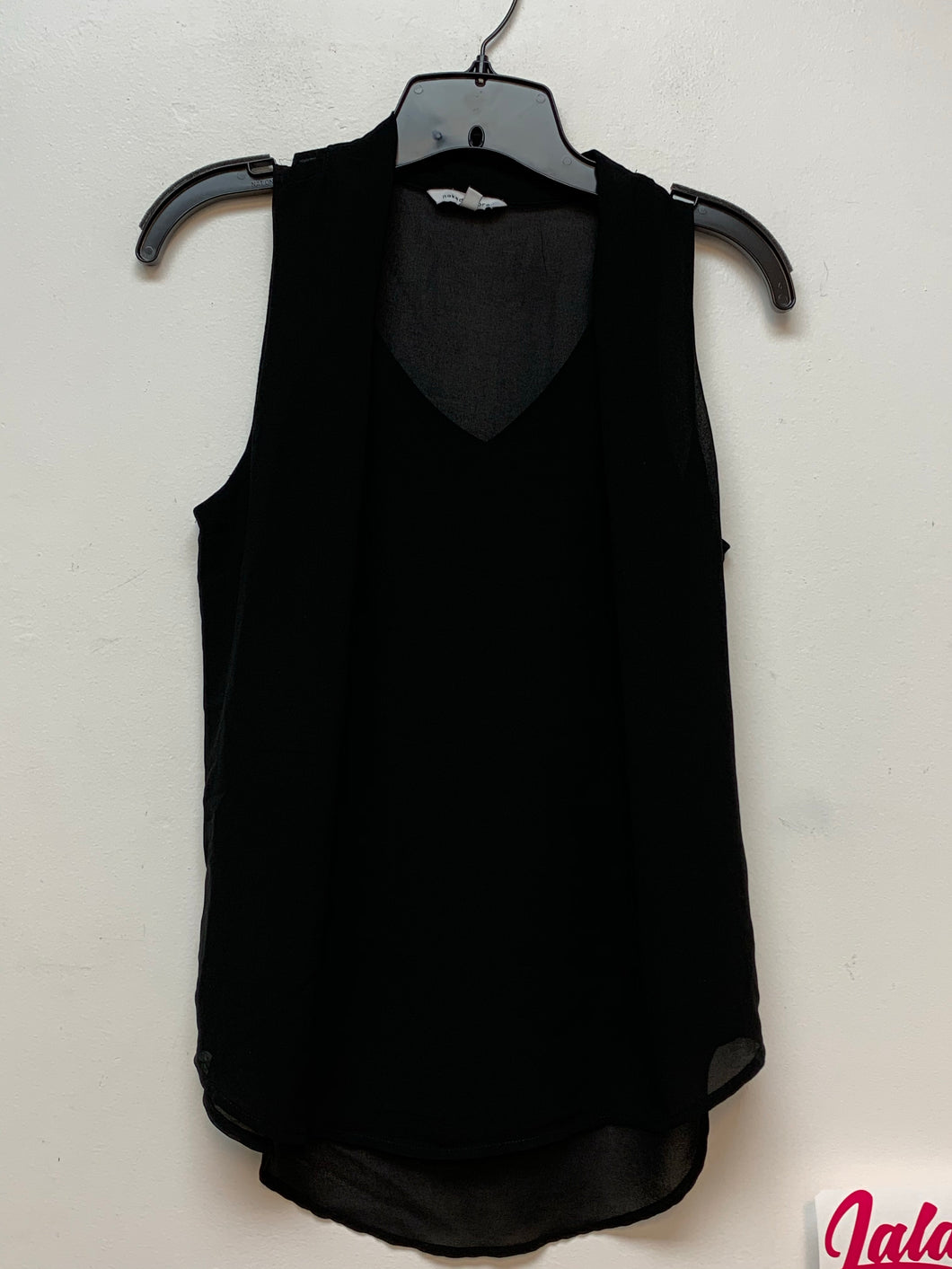 Naked Zebra Sleeveless Top - Black