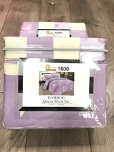 Bamboo Queen Sheet Set 1600 Series - Baby Yellow Lavender