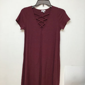 Loves fire burgundy short sleeve dress size small