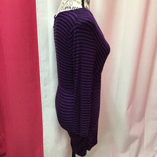 Motherhood Maternity purple and black striped top size small
