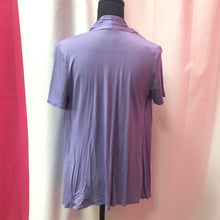 Short Sleeve Open Front Cardigan- Lilac