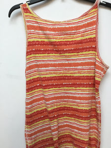 Faded Glory coral and yellow tank top size XXL