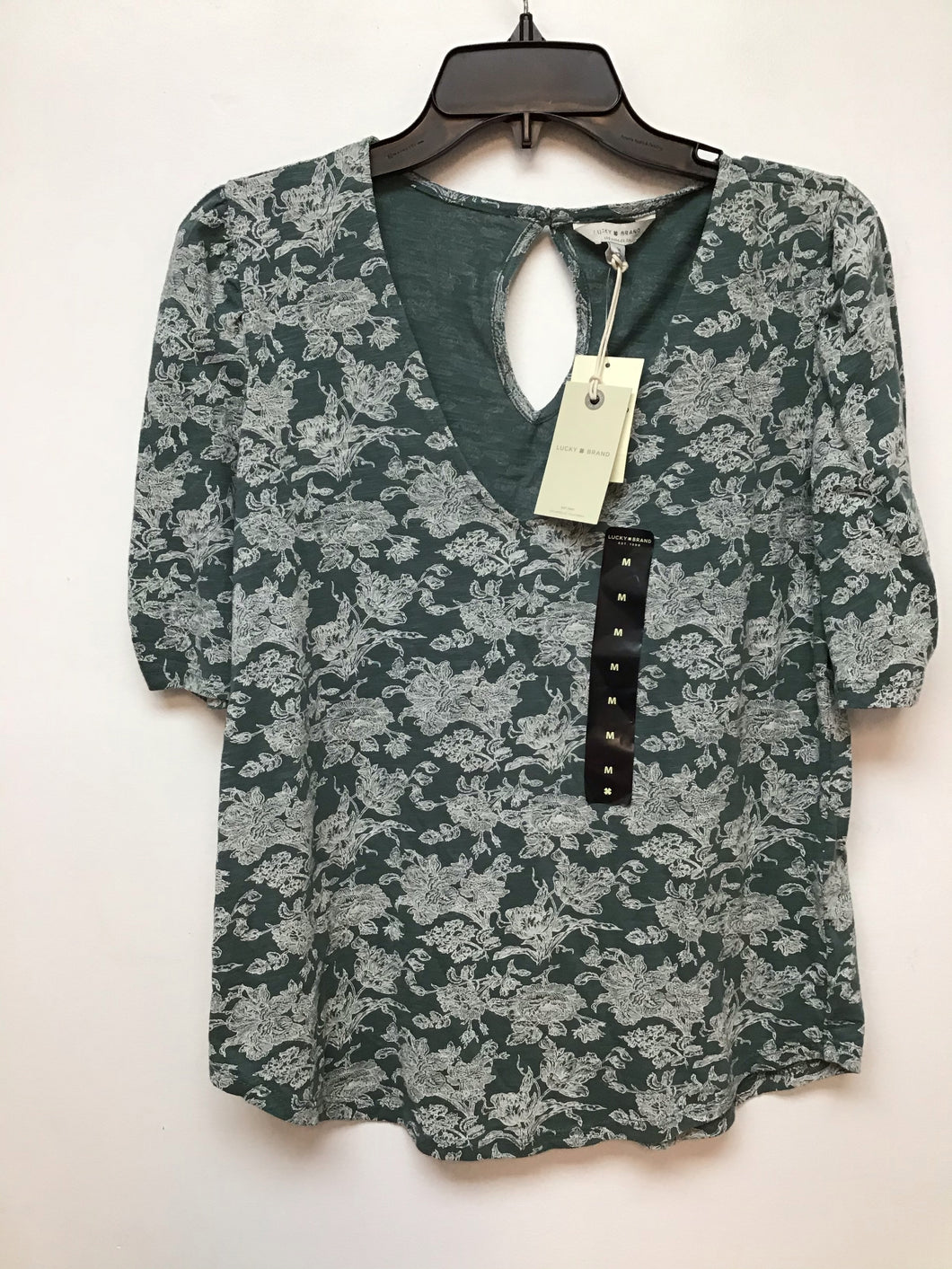 Lucky Brand green with white floral print size medium