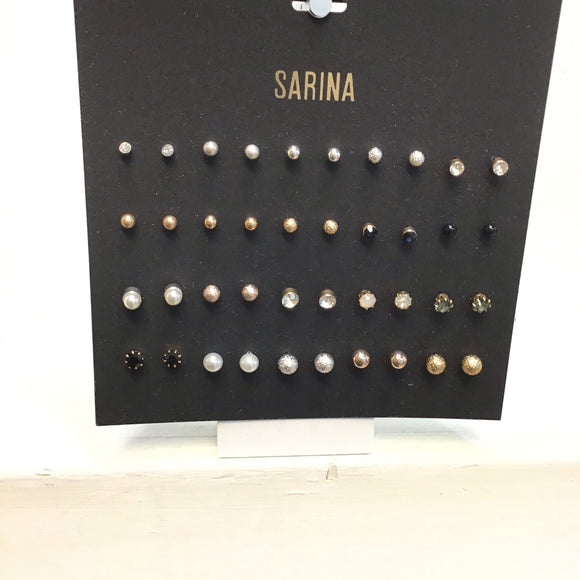 Sarina multiple pairs of earrings