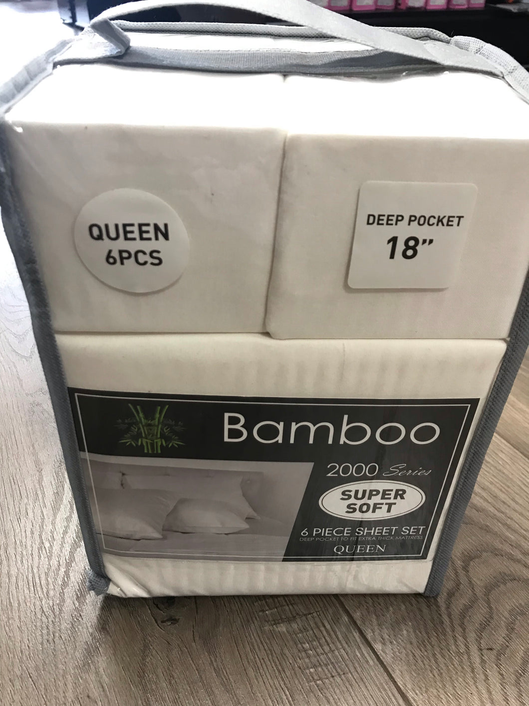 Bamboo Queen Sheet Set 2000 Series - Solid Creme