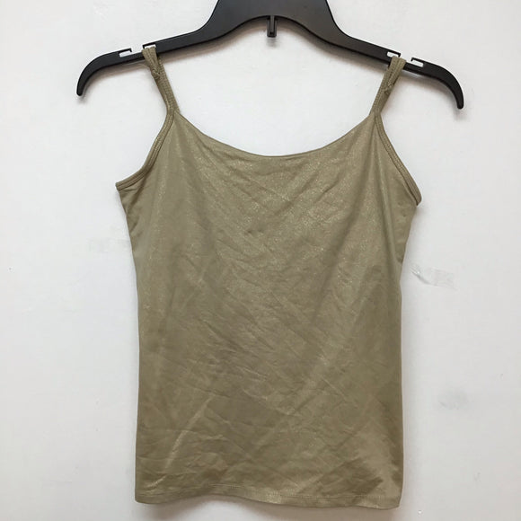 Unbranded gold shimmer spaghetti strap blouse size