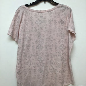 Sonoma light pink with silver print size XXL