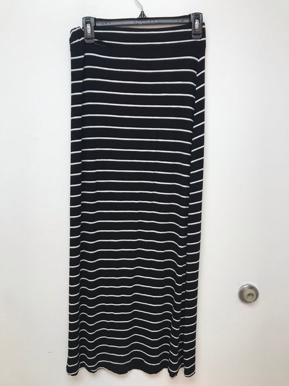 Loft Black And White Striped Maxi skirt size XS