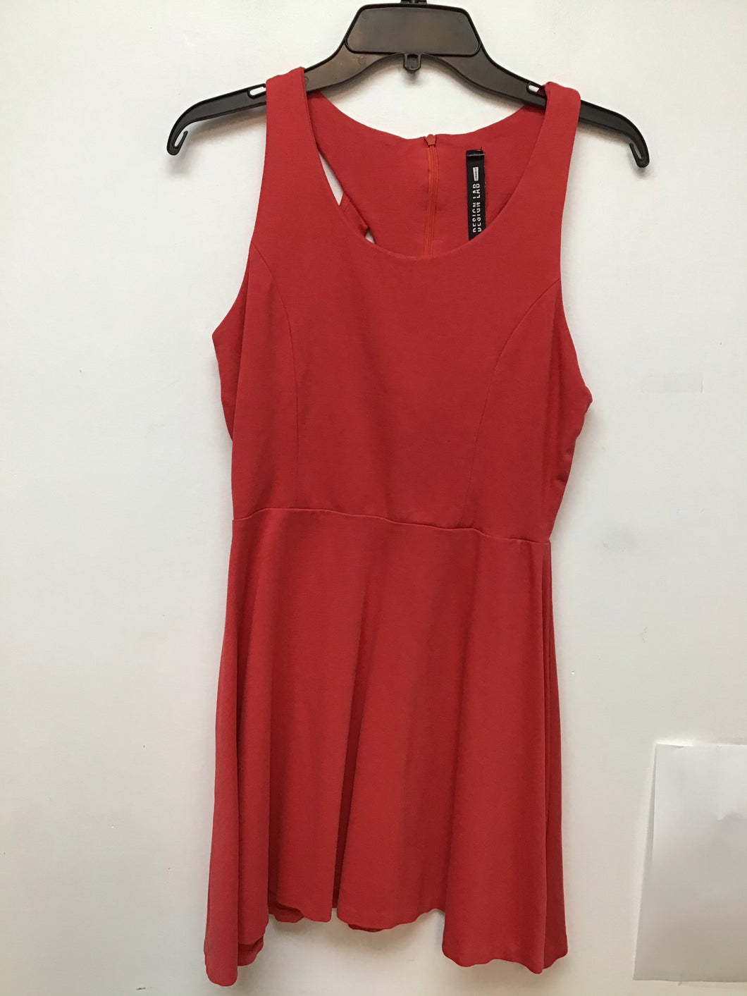 Design lab coral color sleeveless dress size large