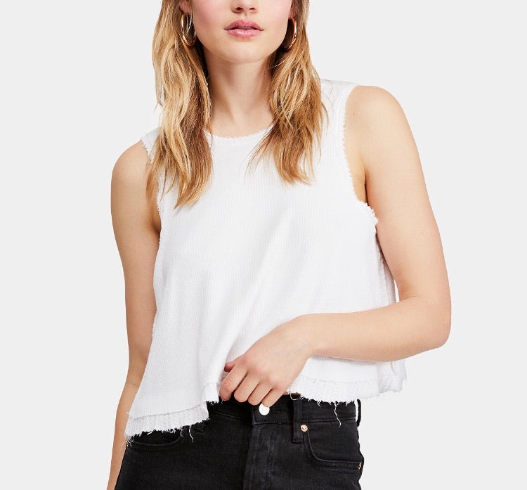 Free People New Love Tank Top - White