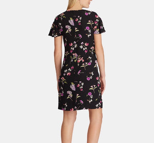 American Living black floral print dress size 6