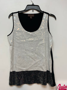 Dana Buchman Sleeveless Sequence - Black/White
