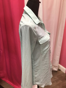 Old Navy long sleeve mint blouse size small